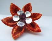 Sweet Orange Blossom Hair clip Japanese Kanzashi