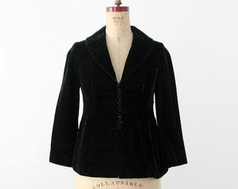 1970s velvet blazer, vintage 70s boho jacket