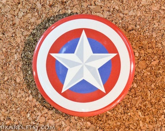 Captain America Shield Original Design Pin-back Button or Magnet