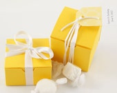 Lemon Wedding Favor Boxes - Yellow Favor Boxes, Candy Boxes, Favor Containers, Gift Boxes
