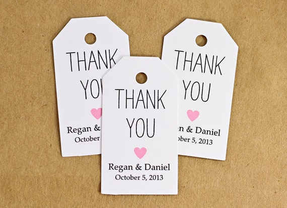 Wedding Gift Bag Thank You Tags : Favor Tags, Wedding Favor Tag, Bridal Shower Favor, Thank You Gift Tag ...