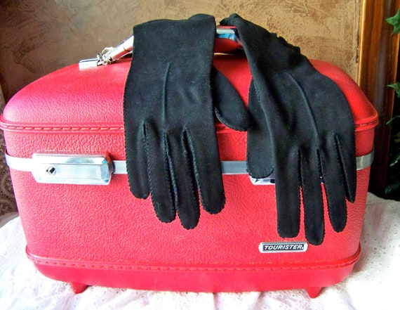 Vintage Stetson Black Gloves Ladies Gloves Size 6 1/2 Black Evening Gloves