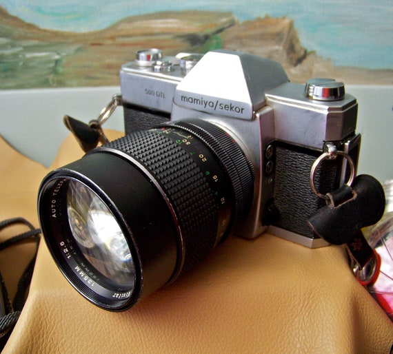 Vintage Mamiya Sekor 500 DTL Camera Film Tested with Accessories