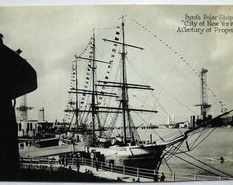 Real Photo Postcard - Century of Progress, 1933, Byrd's Polar Ship