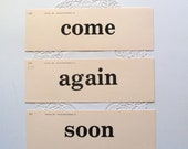 3 word flash cards- come again soon