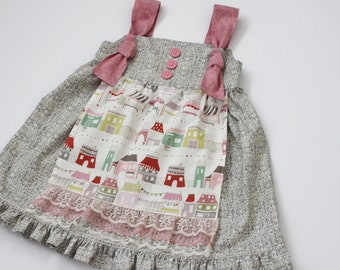 Market Stalls Apron Knot Dress - Size 12 - 18m Ready to Ship