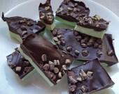 Grasshopper mint chocolate bark, minty chocolate bark