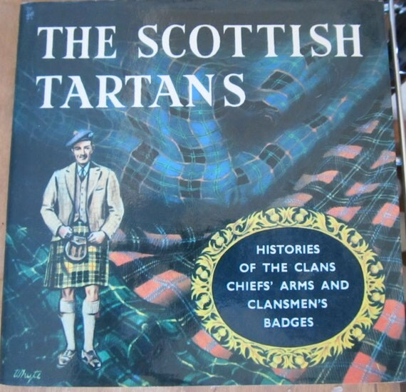 Vintage 1970 Illustrated The Scottish Tartans Histories of the Clans Johnston and Bacon HC