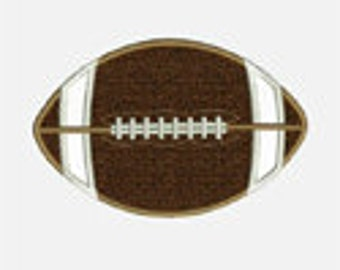 Football...Embroidery Applique Design...Three sizes for multiple hoops...Item1037...INSTANT DOWNLOAD