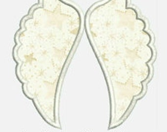 Angel Wings...Embroidery Applique Design...Three sizes for multiple hoops...Item1262...INSTANT DOWNLOAD