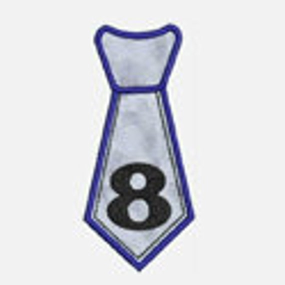 Tie Numbers 1-9...Embroidery Applique Design...Three sizes for multiple hoops...Item1417...INSTANT DOWNLOAD
