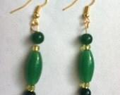 Malachite Aventurine Earrings-Green Earrings