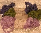 Scrunched Seam Binding ribbon, Hand Crinkled Seam Binding Packaged Violette De Jardin ECS