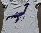 Scorpio Original Hand Painted Wearable Artwork