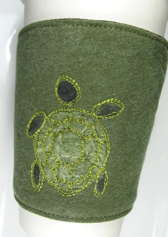 Sea Turtle Coffee Cup Cozy