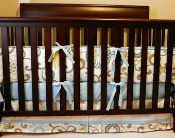 Pom Pom Four Piece Crib Bedding Set