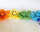 Sale and Free Shipping - 6 Octopus Cat Toy's with Organic Catnip Inside - Red, Orange, Yellow, Green, Blue and Purple