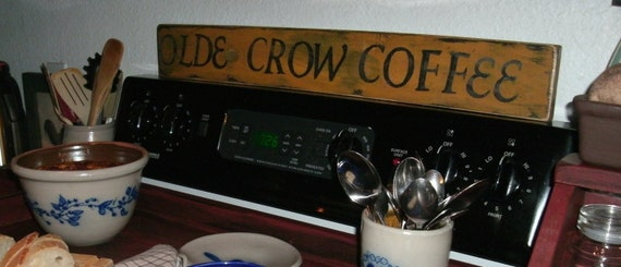 Olde Crow Coffee sign