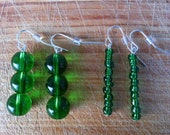 Green Earring Set Comes With Two Pairs Sale