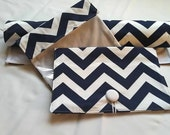 Baby Gift Set-----Diaper  Clutch and First Aid Bag  and Changing Pad---Chevron---Zig Zag