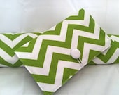Gift Set-----Boutique Diaper Wipe Clutch and Changing Pad -- Chevron-