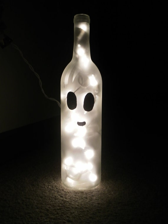Items Similar To Ghost Wine Bottle Lamp On Etsy