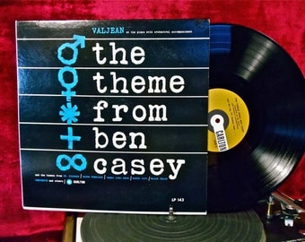 VALJEAN at the Piano w/Orchestral Accompaniment - The Theme From Ben Casey and other TV Programs - 1960s Vintage Vinyl Record Album