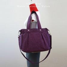sale purple bag shoulder bag water resistant nylon beach bag handbag t. Black Bedroom Furniture Sets. Home Design Ideas