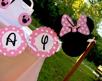Minnie Mouse Die Cut Birthday Banner