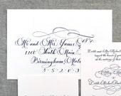 Wedding Envelope Calligraphy -- Hand Written Envelope Addressing -- Savannah Font