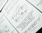 Hand Written Wedding Calligraphy Invitation