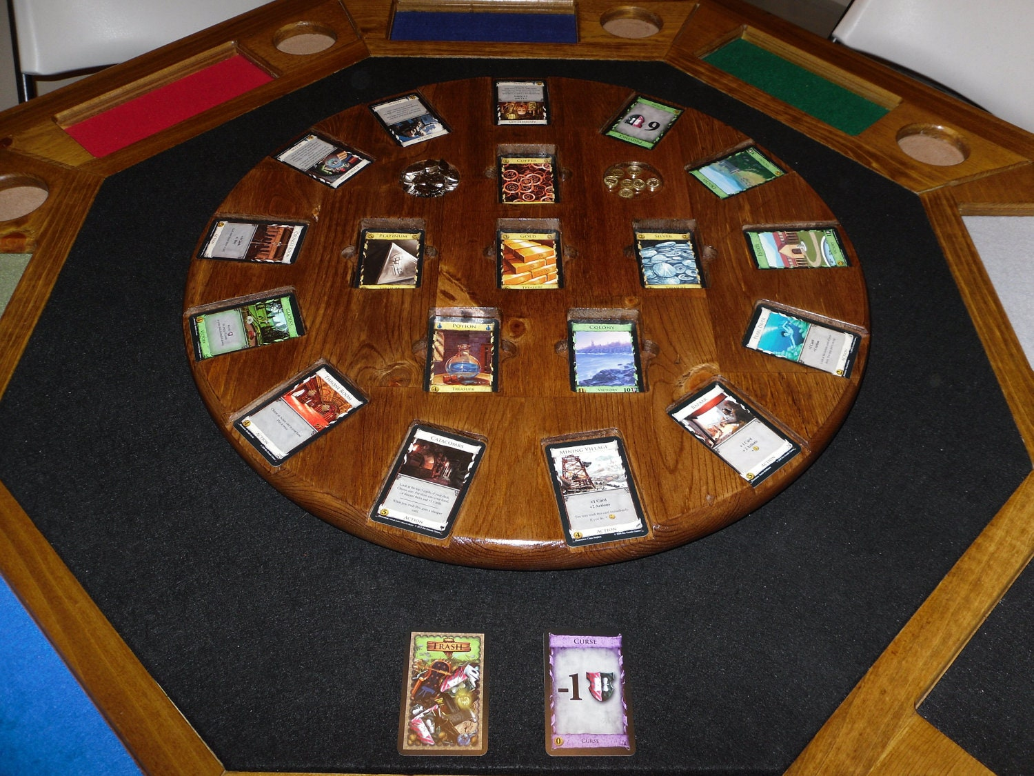 Wooden Dominion Card Game Table