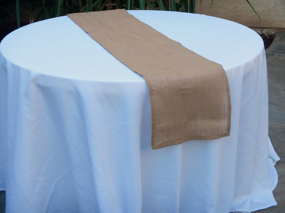 Burlap Table Runner, Natural Tan Burlap, Ready to SHIP, Custom Size Available