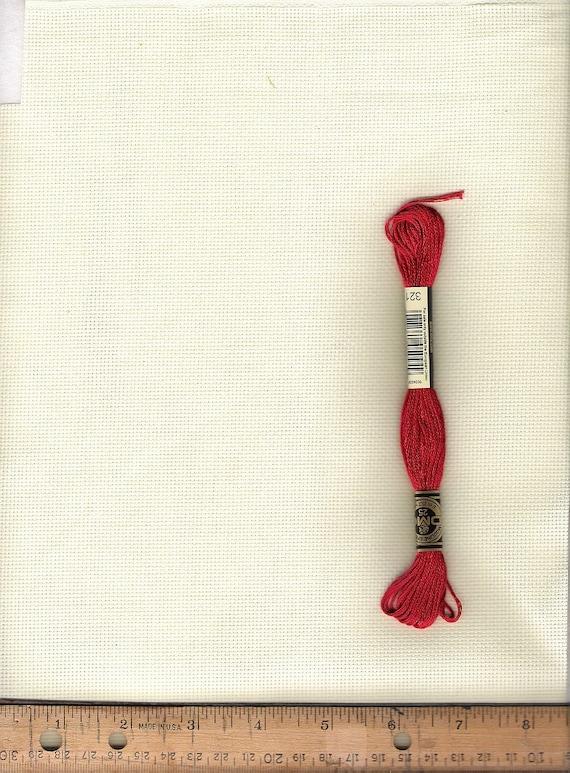 Cross stitch fabric aida cloth count ivory cotton