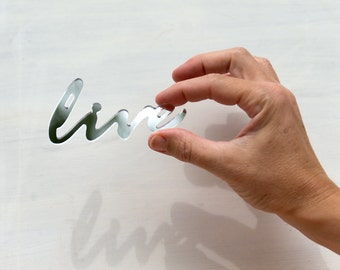 Mirror Word Fridge Magnet - Live