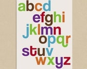 INSTANT DOWNLOAD - Printable Wall Art 8x10 Funky Alphabet