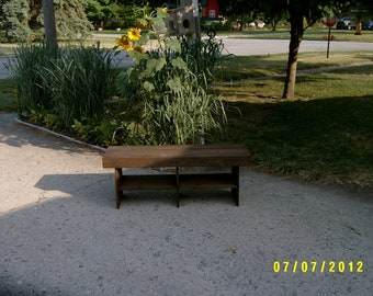 "wooden bench 4' - 15"" deep"