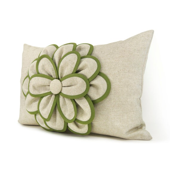 Shabby Chic Decorative Pillows : Decorative pillow cover 12x18 Shabby chic pillow French