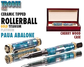 Abalone  Rollerball Pen - Top of the Line Pen High End Pen writing instrument custom made pen gift for a woman gift for her birthday gift