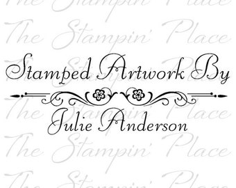 Personalized Custom Stamp - Fancy Stamped Artwork By PS77