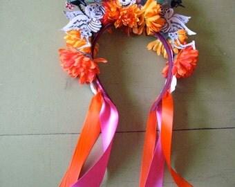 Day of the Dead/ Día de los Muertos Headband crown