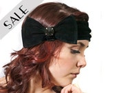 Bow headband in Black leather 33% DISCOUNT