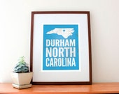 "Durham, North Carolina Love Print, 11"" x 14"""
