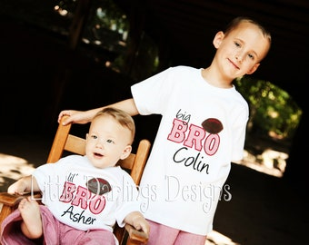 CustomFootball Themed Big Bro or Lil Bro Shirt or Onesie