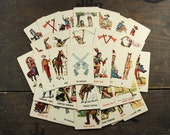 """32 Vintage Playing Cards """"Cowboys and Indians"""", Paper Ephemera, Collectibles"""