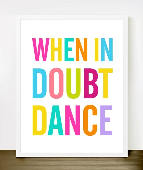 Quando In dubbio Dance (colore) - No 048 / 8x10 INSTANT DOWNLOAD Printable JPG Digital Art.