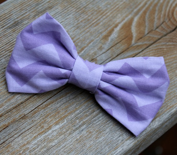 Purple on Purple Chevron Bow Tie - clip on, pre-tied with strap or self tying - ring bearer outfit or groomsmen gift