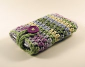 Crocheted iPod / iPhone / MP3 Player / Mobile Phone Cozy in Watercolor Ombre