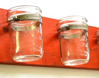 Mason Jar Wall Organizer - Mason Jar Board - Wall Organizer