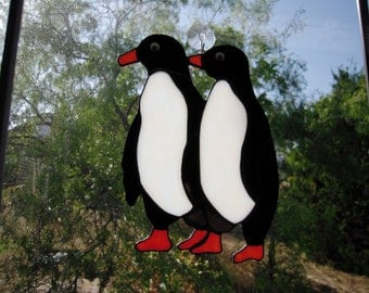 Stained Glass Penquins